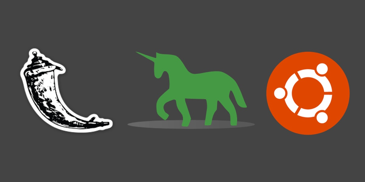 Flask, Green Unicorn and Ubuntu logos. Copyright their respective owners.