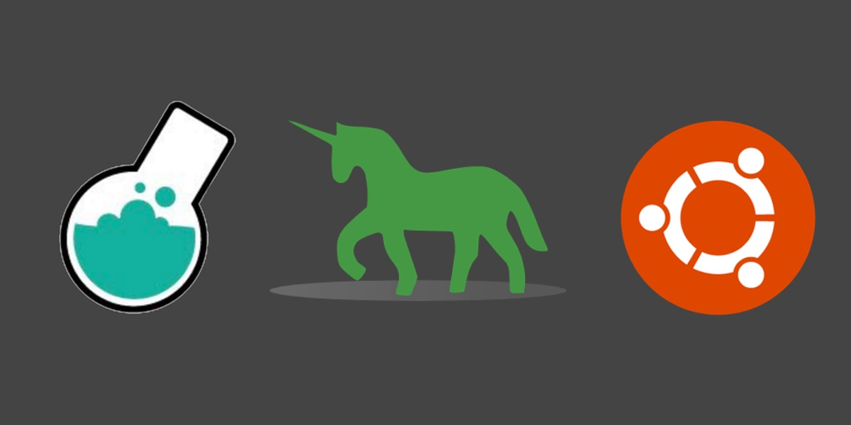 Bottle, Green Unicorn and Ubuntu logos. Copyright their respective owners.